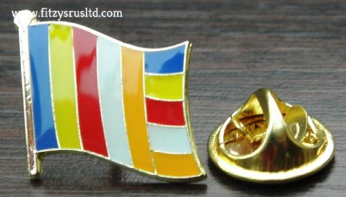 Buddhist Flag Lapel Hat Cap Tie Pin Badge Brooch Buddhism Buddha Buddhists Gift